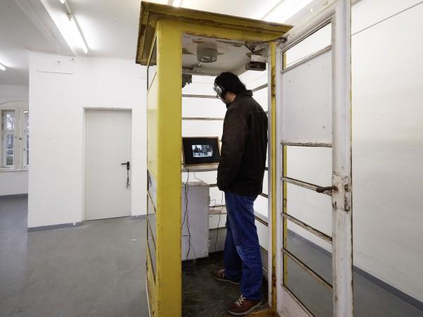 Kurzfilme in einer DDR-Telefonzelle